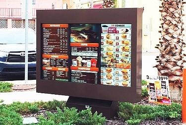 ViewStation QSR Dunkin Donuts Menu Board