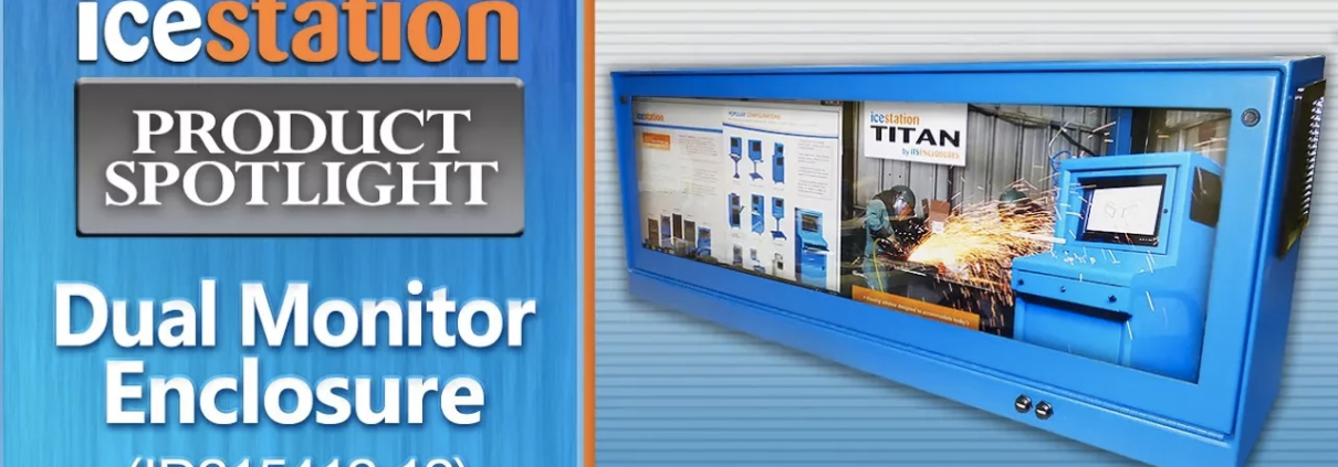 dual monitor enclosure desktop icestation itsenclosures pc monitor enclosure
