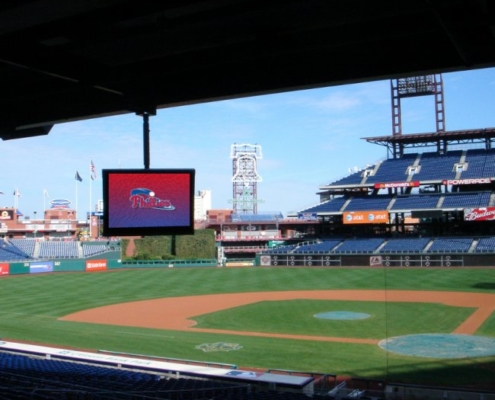 ViewStation Passively Cooled Phillies Vented LCD Enclosure by ITSENCLOSURES philadelphia phillies