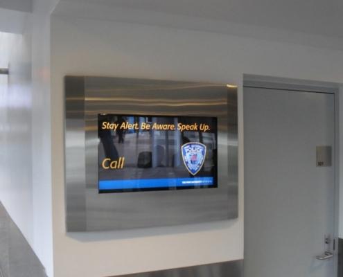 ViewStation Recessed In Wall LCD Enclosures at JFK International Airport NYC by ITSENCLOSURES