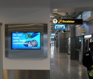ViewStation Recessed In Wall LCD Enclosures at JFK International Airport NYC by ITSENCLOSURES