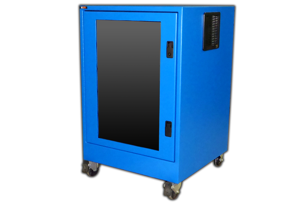IS362626-12 icestation itsenclosures printer box enclosure castors freestanding printer enclosure