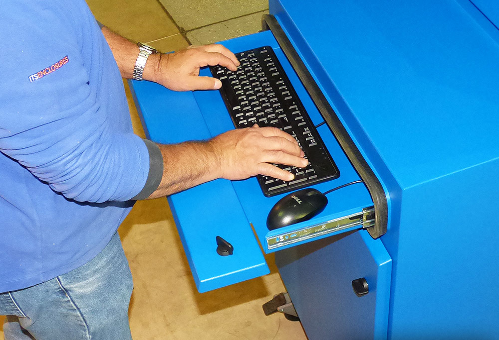 NEMA 4 TITAN Keyboard Drawer IceStation ITSENCLOSURES
