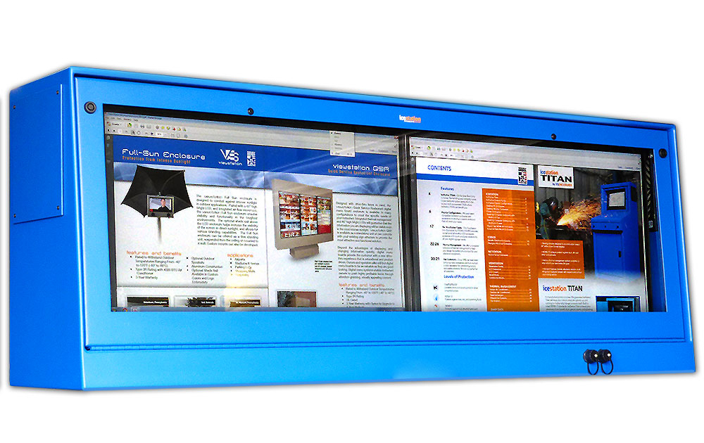 IceStation Dual Monitor Enclosure ITSENCLOSURES