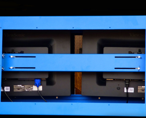 IceStation Dual Monitor Enclosure ITSENCLOSURES mounting brackets