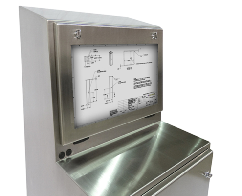 stainless steel TITAN computer enclosure top icestation
