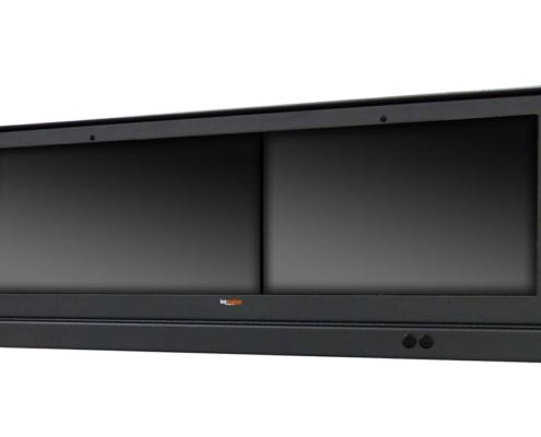 IceStation Dual Monitor Enclosure ITSENCLOSURES gray powder coating