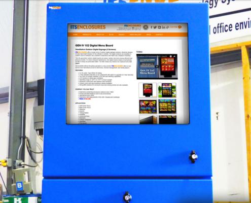 ID34 NEMA 4 Pc Computer Enclosure IceStation ITSENCLOSURES monitor