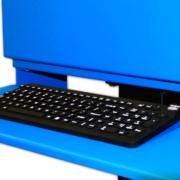NEMA 4 Flat Panel Monitor Enclosure ITSENCLOSURES IceStation keyboard tray waterproof keyboard