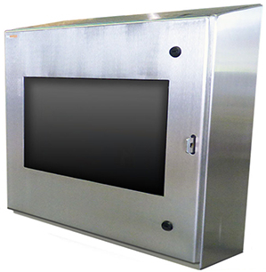 IO28-4X computer monitor enclosure stainless steel nema 4X itsenclosures