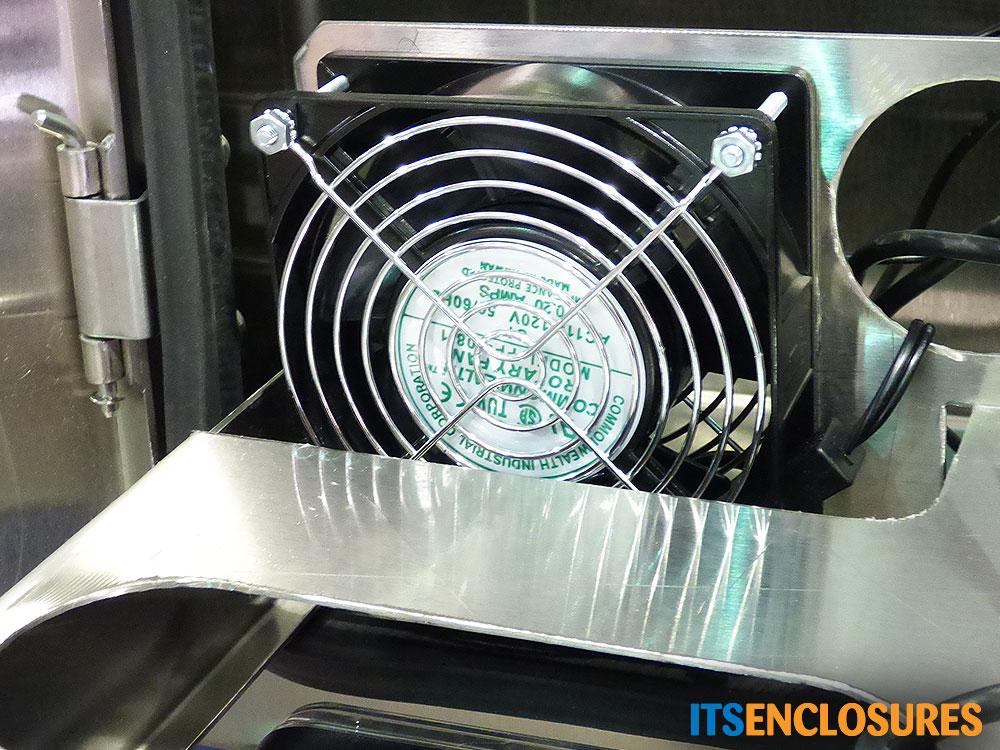 monitor enclosure stainless steel recirculating fan