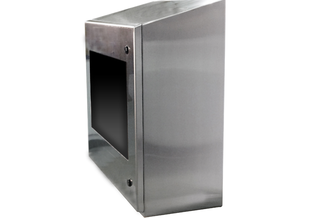 IO292813-4X Stainless Steel PC Monitor Enclosure IceStation ITSENCLOSURES Side View