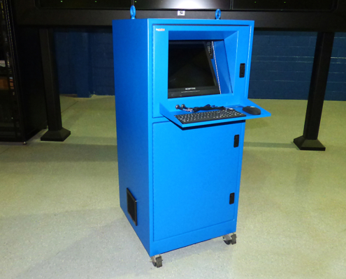 is562626-12 nema 12 pc computer enclosure icestation itsenclosures freestanding workstation enclosure