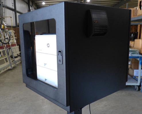 PB262426-12 Printer Box Enclosure lockable front door icestation itsenclosures