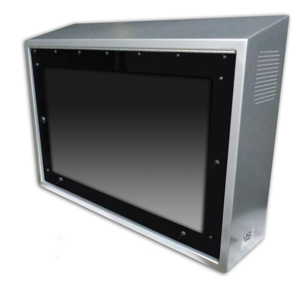 AntiLigature LCD Enclosure viewstation itsenclosures sideview