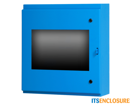 Flat Panel Display Enclosure NEMA 4 Painted Steel Front Window