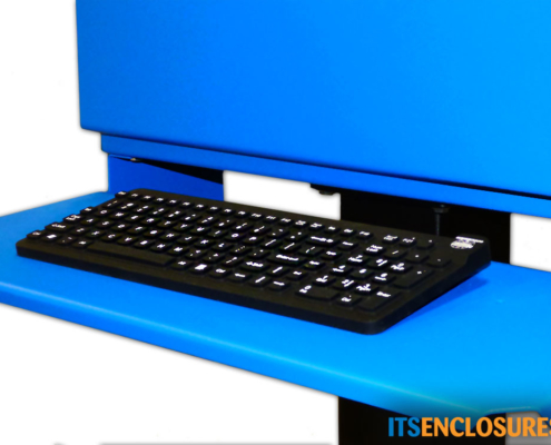 Flat Panel Display Enclosure NEMA 4 Painted Steel Keyboard Tray
