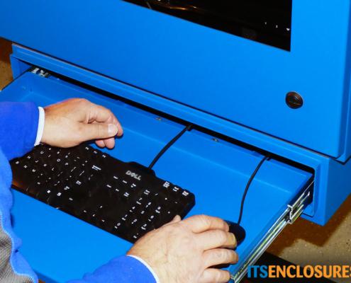 NEMA-4 Monitor Enclosure keyboard drawer