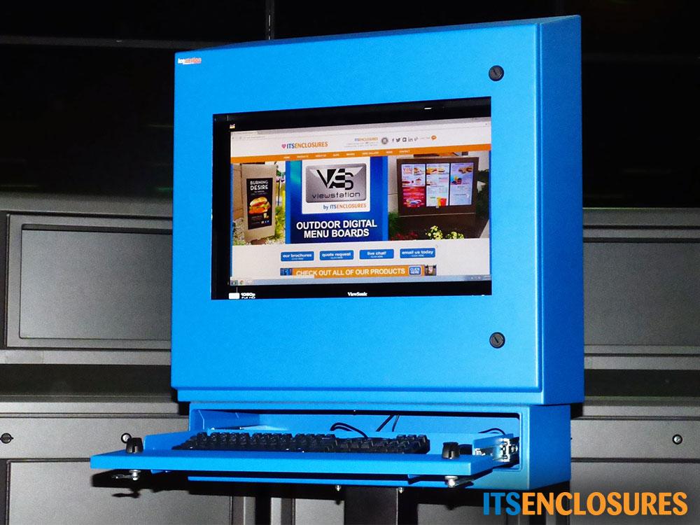 NEMA-4 Monitor Enclosure window keyboard