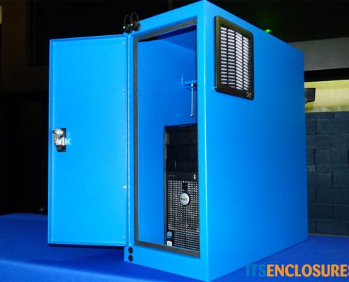 IP122826-12 NEMA-12 PC TOWER Enclosure ITSENCLOSURES product open front door