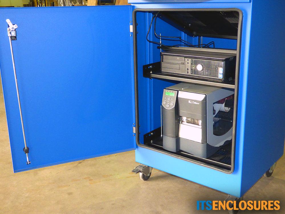 Freestanding Computer Enclosure IceStation Bottom Cabinet