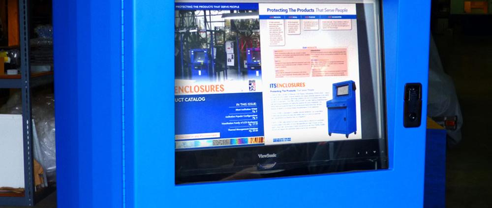 IS602826-12 Computer cabinet pc enclosure nema 12 icestation itsenclosures freestanding computer enclosure monitor window