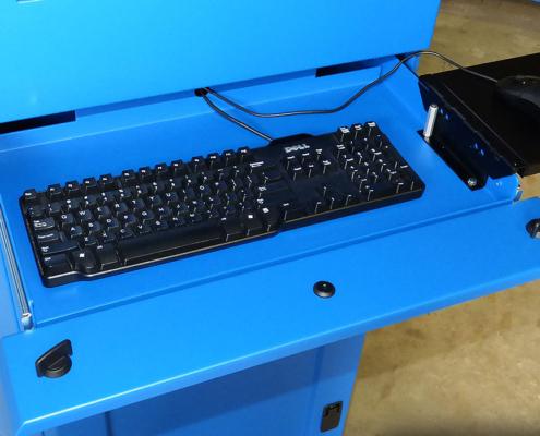 IS602826-12 Computer cabinet pc enclosure nema 12 icestation itsenclosures freestanding computer enclosure keyboard drawer