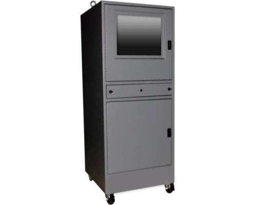 IS662828-12 Computer cabinet pc enclosure nema 12 icestation itsenclosures monitor window