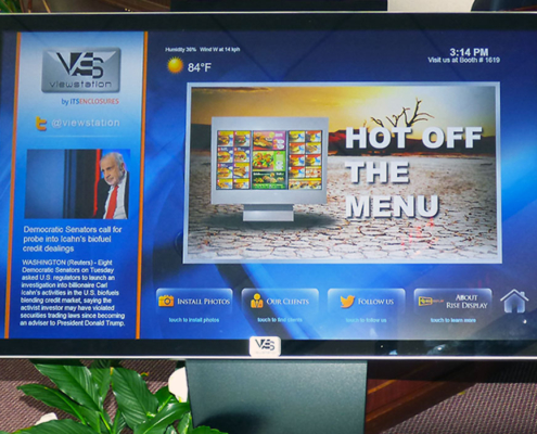 InfoStation Interactive Touchscreen Kiosk ITSENCLOSURES ViewStation product