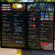 Kewpee Hamburgers 2x1 ViewStation Digital Sigange 2 screens