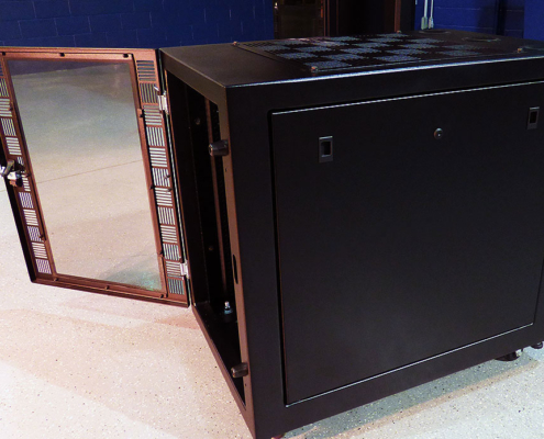 NS302437 NetStation Vented Rack Enclosure ITSENCLOSURES front door side panels