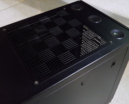 NetStation Vented Rack Enclosure Top Wire Entry Vents