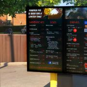 digital signage kewpee burgers viewstation outdoor monitors itsenclosures