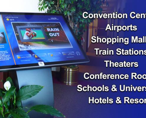 InfoStation LCD Kiosk ViewStation Touchscreen Installations