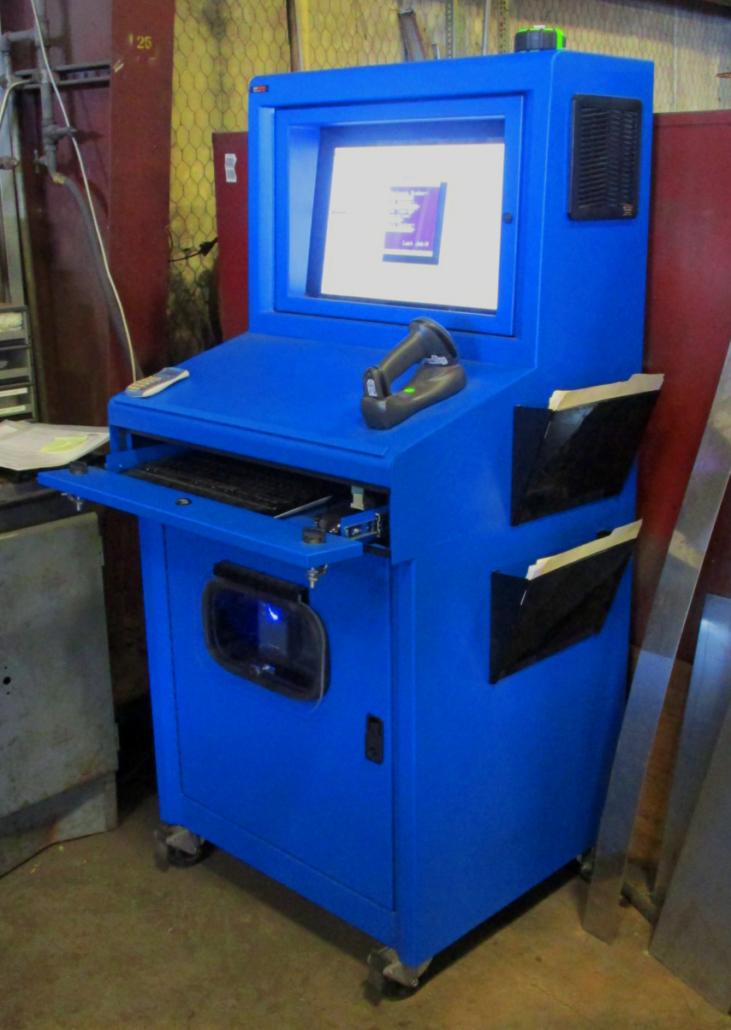 IceStation TITAN pc computer enclosure ITSENCLOSURES industrial heavy duty enclosure hinged printer door