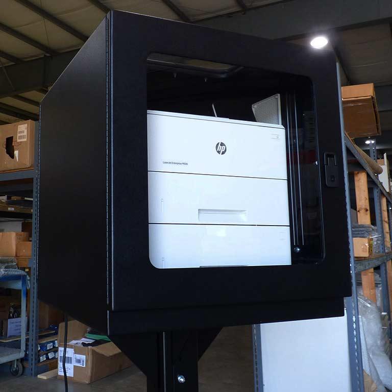 PB262426-12 PRINTER BOX ENCLOSURE CABINET MOBILE ITSENCLOSURES