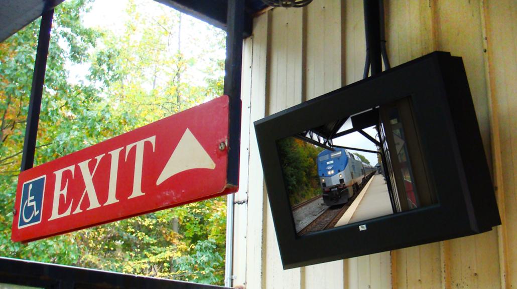 virginia railway digital signage itsenclosures viewstation lcd enclosure
