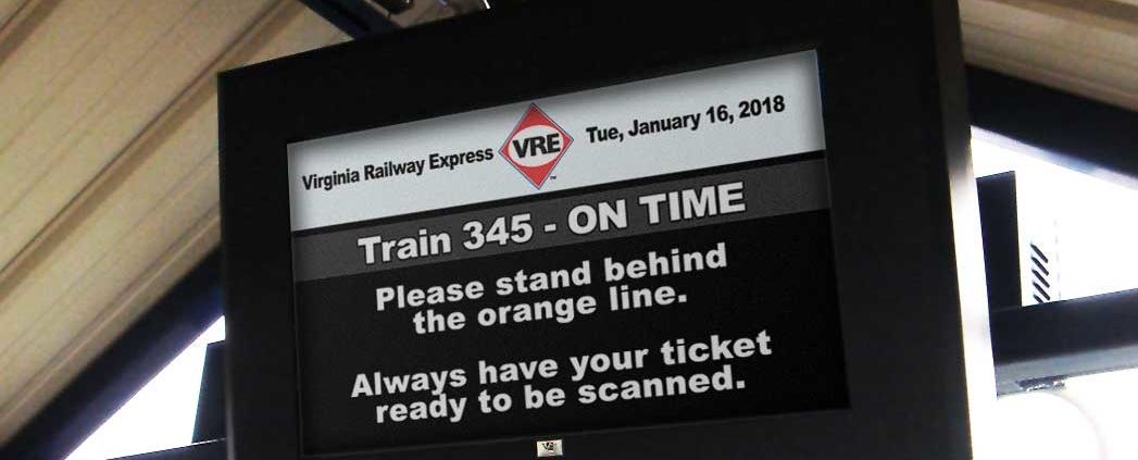 Virginia Railway Express ViewStation Universal LCD Enclosure ITSENCLOSURES