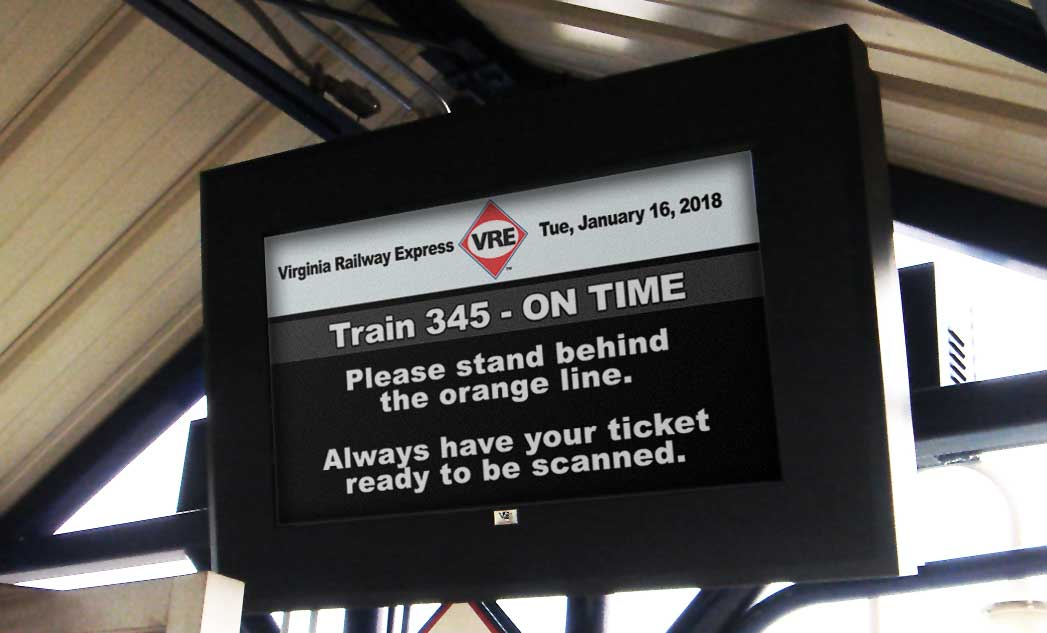 Virginia Railway Express ViewStation Universal LCD Enclosure ITSENCLOSURES