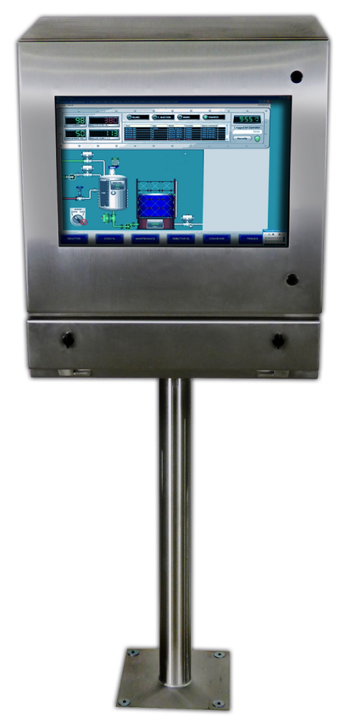 IO352813-4X monitor enclosure on Pedestal - IceStation ITSENCLOSURES