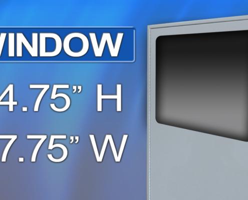 icestation IS663636-12 printer enclosure window itsenclosures