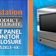 IO35-4X monitor pc enclosure keyboard drawer icestation itsenclosures
