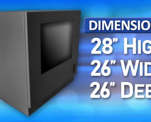 ID28-04 IceStation Rack Enclosure ITSENCLOSURES dimensions