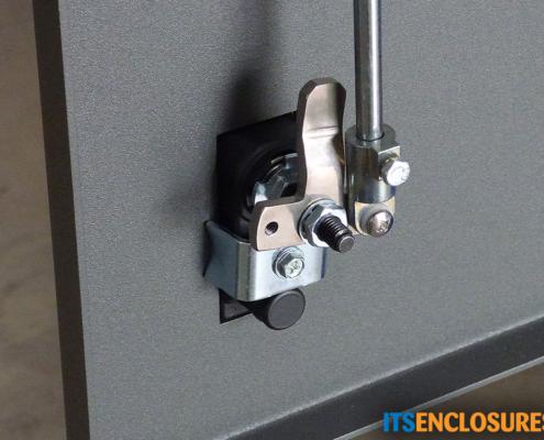 ID28-04 IceStation Rack Enclosure ITSENCLOSURES quarter turn latches