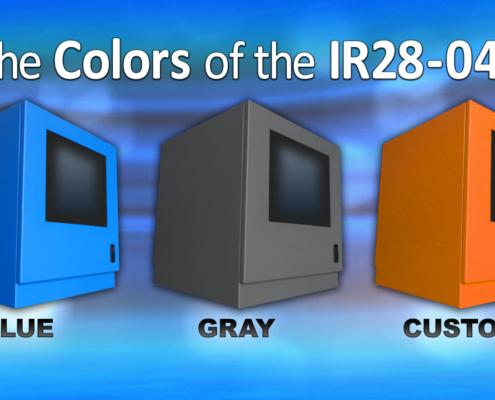 ID28-04 IceStation Rack Enclosure ITSENCLOSURES powder coating