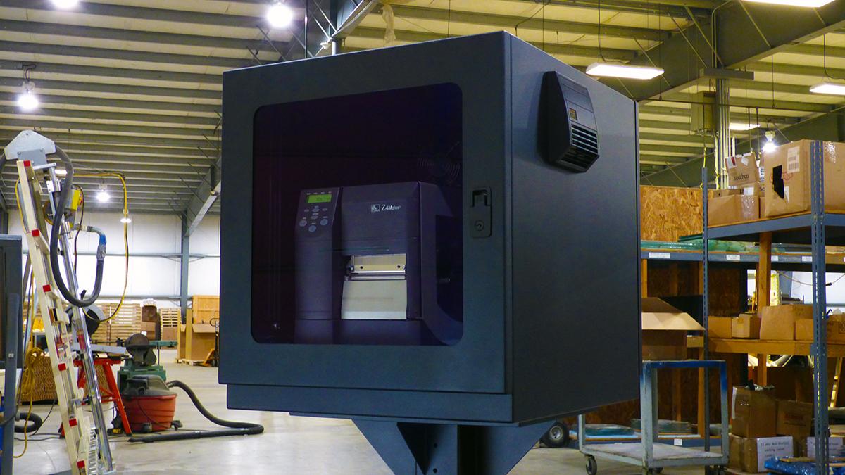 NEMA 12 PB262426 label printer enclosure itsenclosures icestation printer box