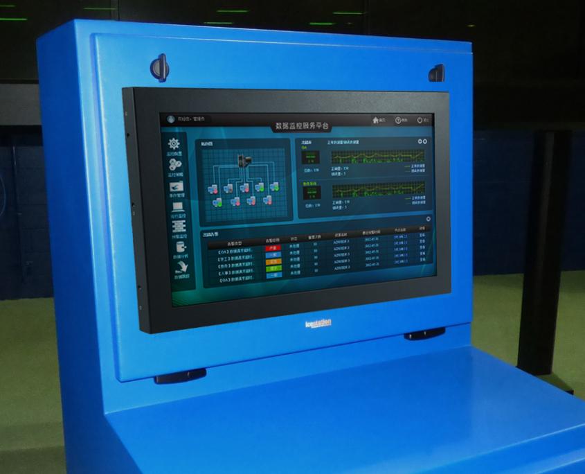 NEMA 4 IceStation TITAN Computer Enclosure panel mount door with touchscreen